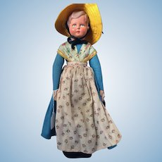 "14"" Souvenir Doll from Belgium in Traditional Costume"