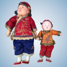 Two Chinese Boy Dolls