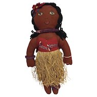 "14"" Cloth Pacific Islander Doll"