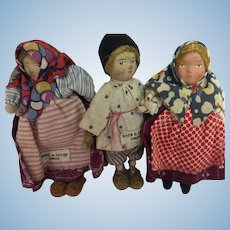 Set of Three Very Small Russian dolls