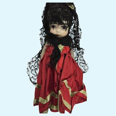 All Bisque Japanese Doll dressed as Spanish Dancer