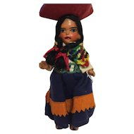 Red Clay Doll Dressed in Felt