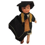 """4"""" Unglazed Bisque Doll made in Japan"""