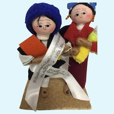 Souvenir Dolls from II Conference Latinoamericana, 1989