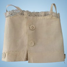 Lace Trimmed Cotton Camisole with buttons to hold up bloomers.