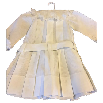 Antique White Cotton Dress for a Large Doll