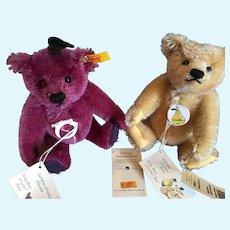 Steiff Teddy Bear Pear and Teddy Bear Plum