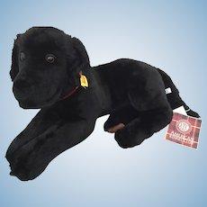 Steiff Black Labrador Dog
