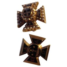 Alpha Tau Omega Fraternity pins