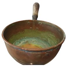Copper Pot with Wooden Handle