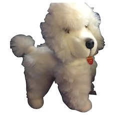 """Black and White Steiff Poodles """"Moody"""""""