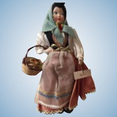 "11"" Italian woman with basket"