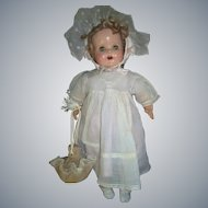 Adorable Vintage Doll Draw String Purse