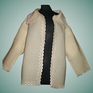 Beautiful Antique Wool Challis Doll Jacket