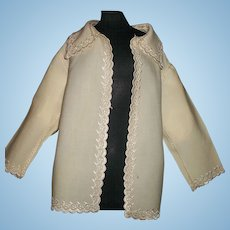 Beautiful Antique Wool Challis Doll Jacket