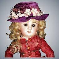 Nice Vintage Purple Velvet Doll Hat, Fashion