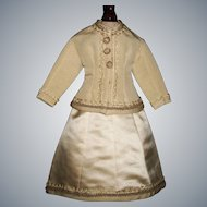 Fabulous French Fashion Doll Suit for her Wedding Trousseau