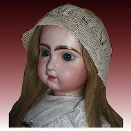 Lovely Antique Crocheted Doll Bonnet