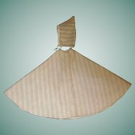 Antique Cotton Flannel Baby Cape and Hat