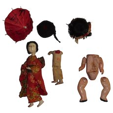 Oriental Doll Parts and Wigs