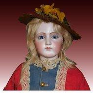 Nice Antique  Brown Felt Fashion Doll Hat