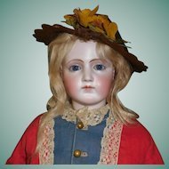 Nice Antique  Brown Felt Fashion Doll Hat