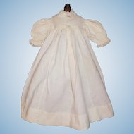 Nice Antique White Flannel Doll Gown, Trousseau