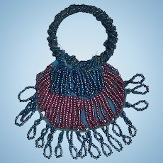 Lovely Antique French Fashion Beaded Purse