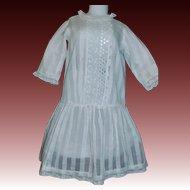 Pretty Early White Drop Waist Doll Dress