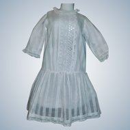 Pretty Early White Drop Waist Doll Dress