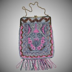 Large Antique Beaded Purse