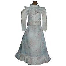 Lovely Antique Cotton Print 2 Piece Doll dress, China, Fashion