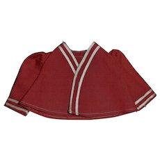 Nice Dark Red Small Fashion Doll Jacket