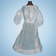 Pretty Early Swiss Dot Lady / Fashion Doll Dress