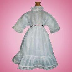 Pretty Antique White Doll Dress