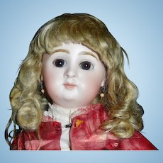 Lovely Antique Blonde Mohair Doll Wig