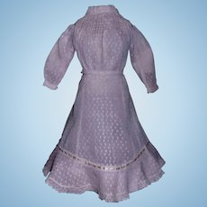 Sweet Antique Pink Raised Dot Fashion Dress