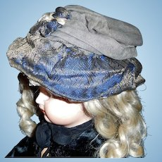 Nice Early Doll Hat, Needs TLC