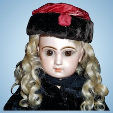 Sweet Early Silk and Fur Doll Hat
