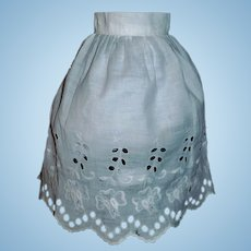 Nice Antique Doll Eyelet Lace Petticoat