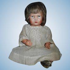 Grumpy Early Celluloid Baby Girl Doll, All Original