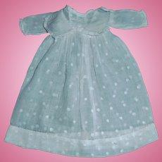 Nice Antique Small Doll Dress, Swiss Dot