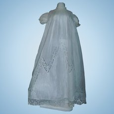 Fabulous Antique Doll Gown , Pintucks and Lace