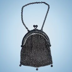 Wonderful Small Antique Mesh Fashion Doll Purse