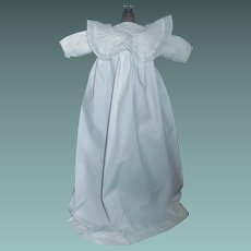 Sweet White Cotton Antique Doll Gown