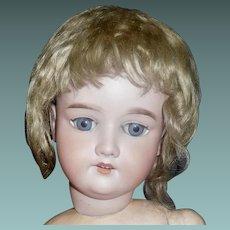 Pretty Dark Blond Antique Doll Wig, Germany Label