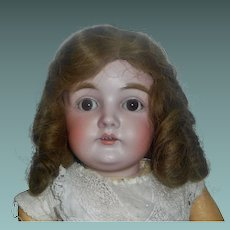 Nice Antique Brown Human Hair Doll Wig