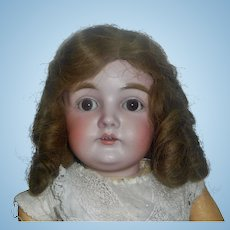 Nice Antique Brown Human Hair Doll Wig