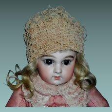 Adorable Antique Ecru Crocheted Doll Hat