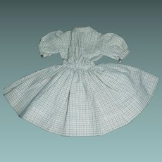 Small Plaid Cotton Doll Dress